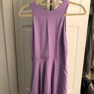 Backless lavender dress